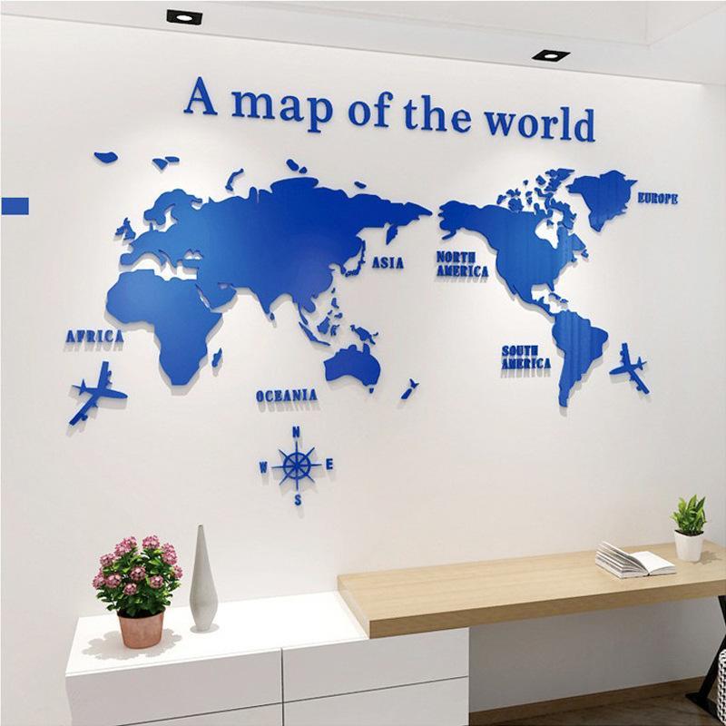 3D 世界地図 ウォールステッカー 壁紙 diy 飾り はがせる 装飾 おしゃれ シール 防水 壁 ホーム キッチン リビングルーム ベッドルーム インテリア  180cm*100cm|parisroseno2|05