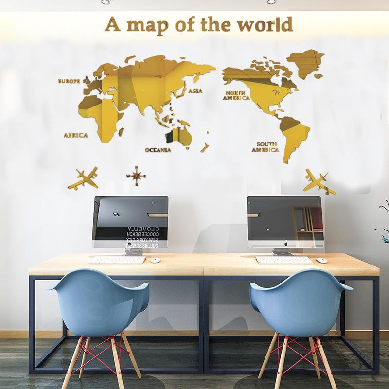 3D 世界地図 ウォールステッカー 壁紙 diy 飾り はがせる 装飾 おしゃれ シール 防水 壁 ホーム キッチン リビングルーム ベッドルーム インテリア  180cm*100cm|parisroseno2|06