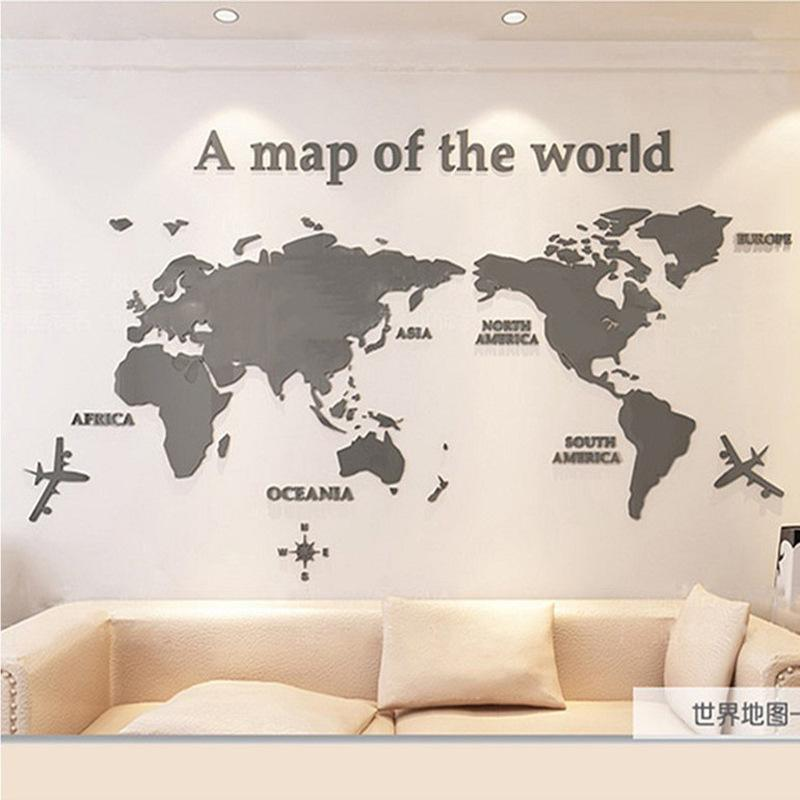 3D 世界地図 ウォールステッカー 壁紙 diy 飾り はがせる 装飾 おしゃれ シール 防水 壁 ホーム キッチン リビングルーム ベッドルーム インテリア  180cm*100cm|parisroseno2|07