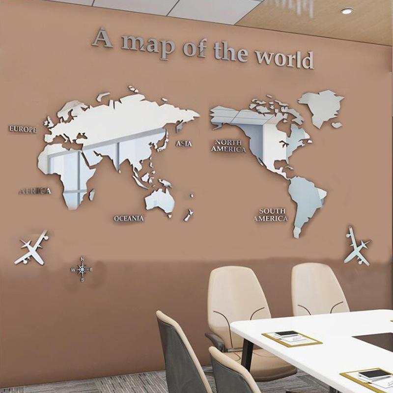 3D 世界地図 ウォールステッカー 壁紙 diy 飾り はがせる 装飾 おしゃれ シール 防水 壁 ホーム キッチン リビングルーム ベッドルーム インテリア  180cm*100cm|parisroseno2|08