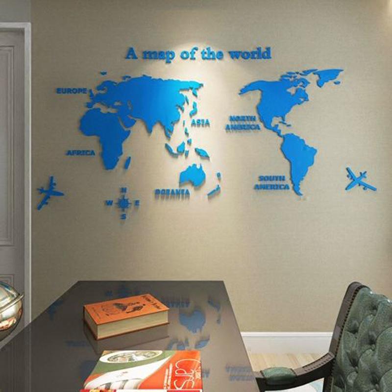 3D 世界地図 ウォールステッカー 壁紙 diy 飾り はがせる 装飾 おしゃれ シール 防水 壁 ホーム キッチン リビングルーム ベッドルーム インテリア  180cm*100cm|parisroseno2|09