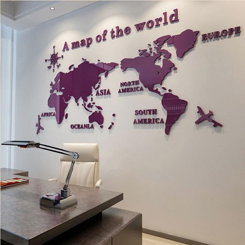 3D 世界地図 ウォールステッカー 壁紙 diy 飾り はがせる 装飾 おしゃれ シール 防水 壁 ホーム キッチン リビングルーム ベッドルーム インテリア  180cm*100cm|parisroseno2|10