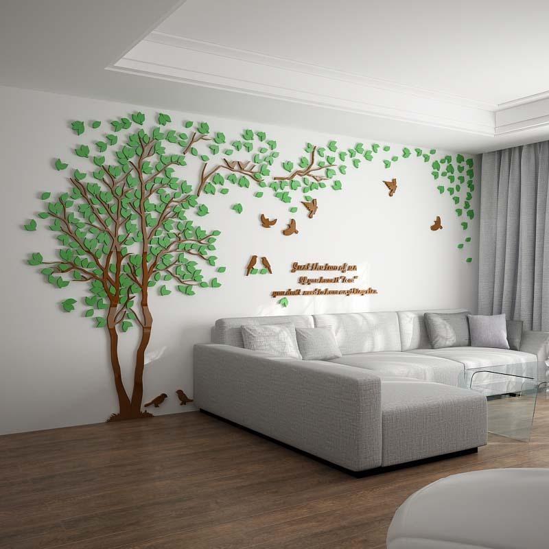ウォールステッカー 3D 木 木の葉 diy アクリル壁紙 飾り はがせる 装飾 シール 壁 ホーム キッチン リビングルーム ベッドルーム インテリア  250cm*130cm|parisroseno2|02
