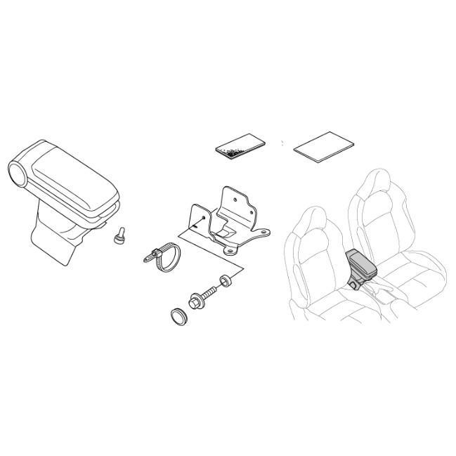 HONDA ホンダ 純正  アームレストコンソール  ブラック  シルバーステッチ  08U89-SZT-040  CR-Z|parts-conveni|02