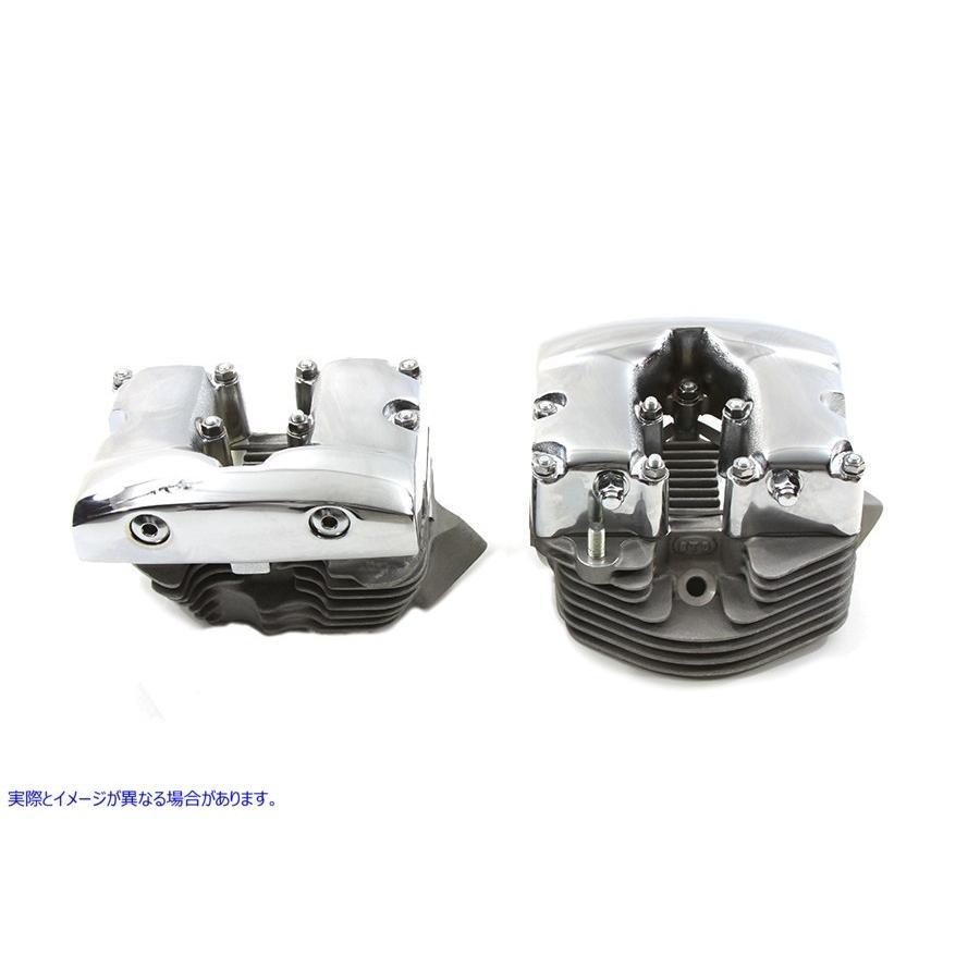 【取寄せ】Cylinder Head Set with Chrome Rocker Box  V-TWIN 品番 10-1063  (参考品番: )  Vツイン アメリカ USA