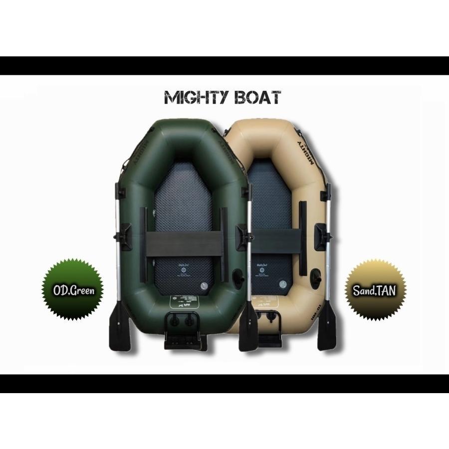 ゴムボート インフレーター Mighty Boat HM-1(OD/Green) マイティボート フィッシングボート バスボート レジャーボート |parts758|10