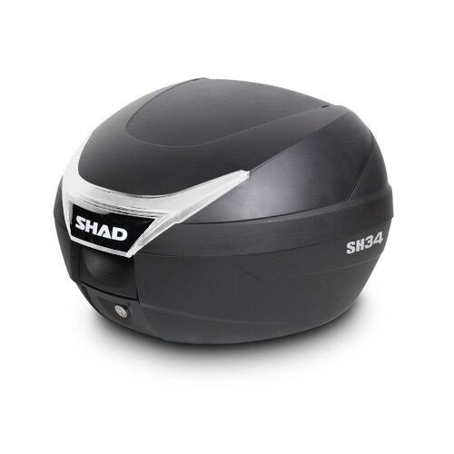 7 ご注文で当日配送 31まで ポイント10倍対象商品 SH34 リアボックス SALENEW大人気! トップケース シャッド 無塗装ブラック SHAD