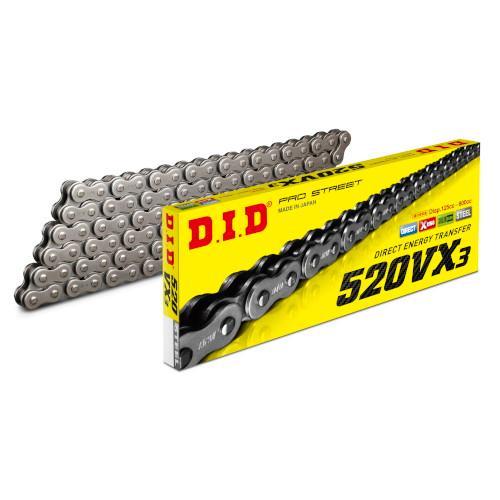 店内全品対象 DID 未使用 大同工業 バイク チェーン 120L 520VX3-120 スチール 520VX3