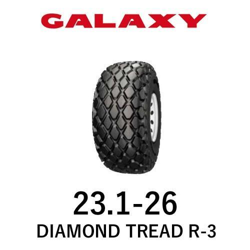 ギャラクシー(GALAXY) トラクタータイヤ DIAMOND TREAD R-3 23.1-26 PR8 TL 1本 パーツマン