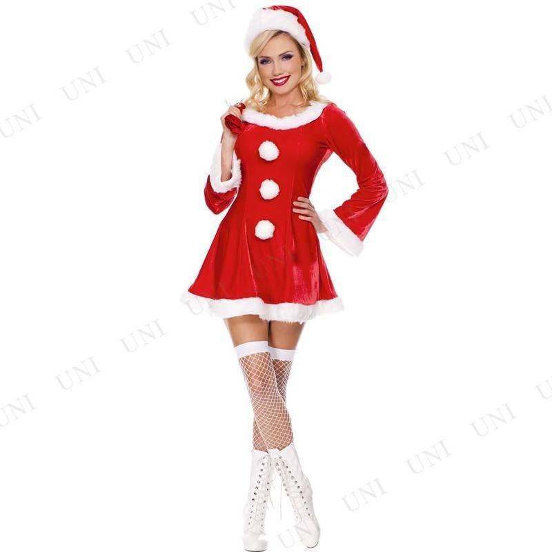 サンタ コスプレ ベルベット サンタクロース ML 衣装 仮装 コスチューム クリスマス