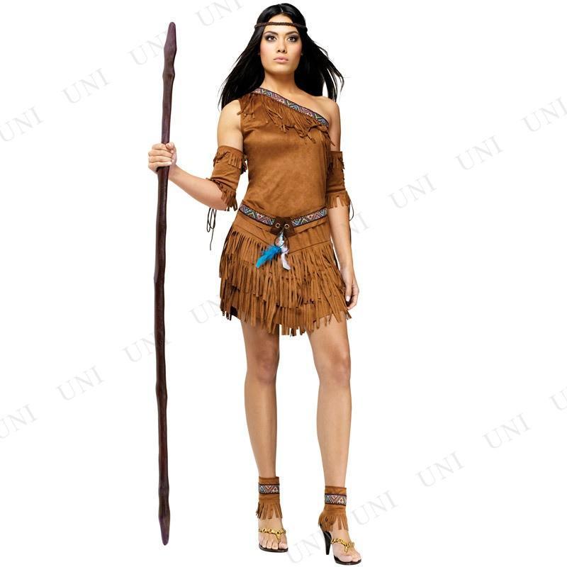アメリカインディアン ML コスプレ 仮装 ハロウィン 余興 コスチューム 大人用 女性用