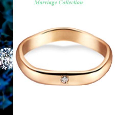 人気ブランドを 結婚指輪 マリッジリング True Love トゥルーラブ 送料無料 ペアリング 18金ピンクゴールド ダイヤ入り K220PD, 千葉厄除け不動尊オンライン授与所 3f9fa831