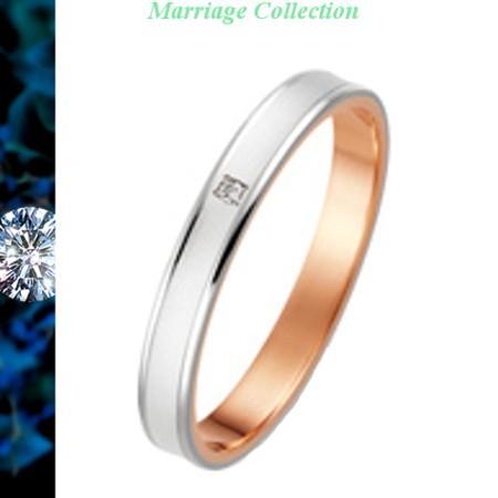 【特別訳あり特価】 結婚指輪 マリッジリング True Love トゥルーラブ 送料無料 ペアリング K18 White Gold & K18 Pink Gold ダイヤ入り K276WPD, 比布町 fd10d7e2
