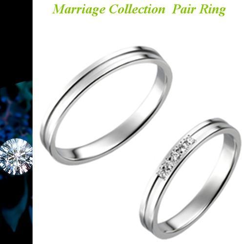 【国内即発送】 結婚指輪 マリッジリング True Love トゥルーラブ 送料無料 ペアリング Pt900 プラチナダイヤ入り P702D, キラキラピアス 898bbbfb