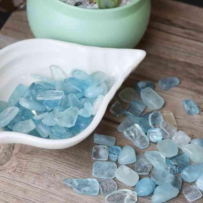 高品質 引き出物 アクアマリン ついに再販開始 さざれ石 中粒 100グラム パワーストーン インテリア 浄化 天然石