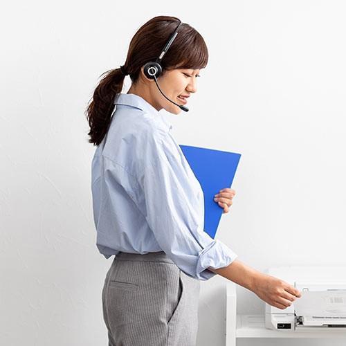 コールセンター向けBluetoothヘッドセット モノラル 片耳 充電台付 スタンド付属 paso-parts 11