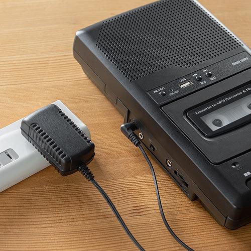 カセット変換プレーヤー カセットテープ カセットプレーヤー USB保存 デジタル保存 簡単操作 乾電池 AC電源|paso-parts|12