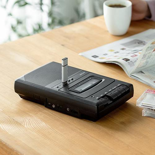 カセット変換プレーヤー カセットテープ カセットプレーヤー USB保存 デジタル保存 簡単操作 乾電池 AC電源|paso-parts|10