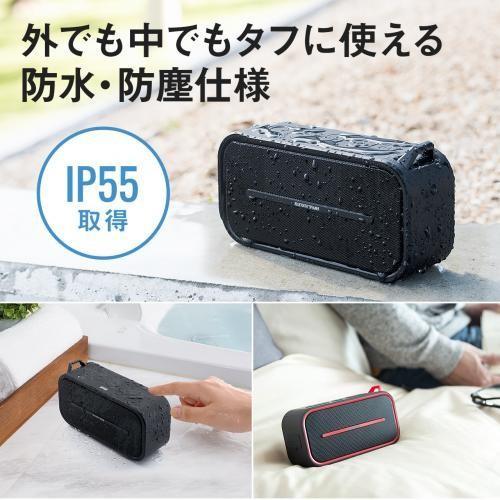 Bluetoothスピーカー ポータブル 防水&防塵対応 Bluetooth4.2 microSD対応 6W ブラック paso-parts 03