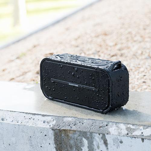 Bluetoothスピーカー ポータブル 防水&防塵対応 Bluetooth4.2 microSD対応 6W ブラック paso-parts 06