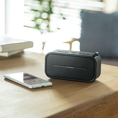 Bluetoothスピーカー ポータブル 防水&防塵対応 Bluetooth4.2 microSD対応 6W ブラック paso-parts 08