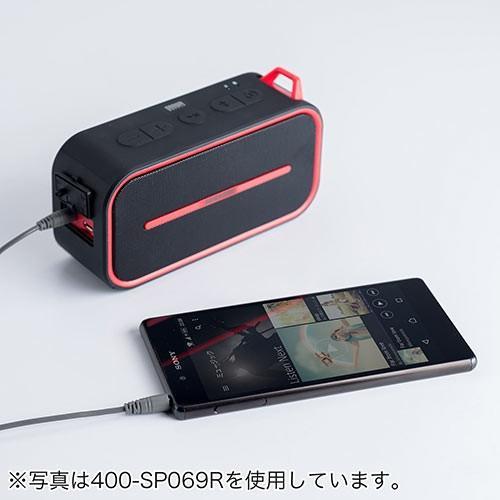 Bluetoothスピーカー ポータブル 防水&防塵対応 Bluetooth4.2 microSD対応 6W ブラック paso-parts 09