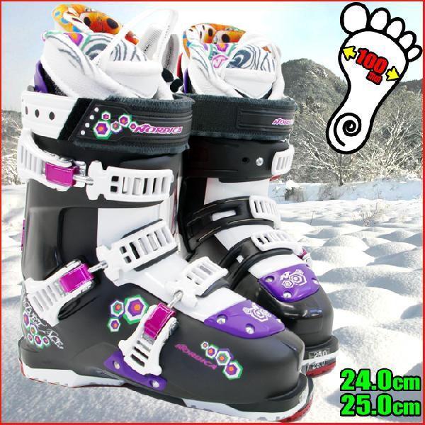 ノルディカ スキーブーツ NORDICA VELVET ACE W 75 05010400787 ブラック-ホワイト レディース 24.0/25.0
