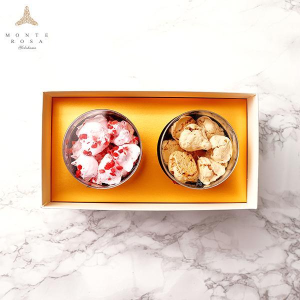 モンテローザ 円筒 ギフト 2個入  贈り物 最適 手作りクッキー オリジナルギフトBOX のし対応あり patisserie-monterosa