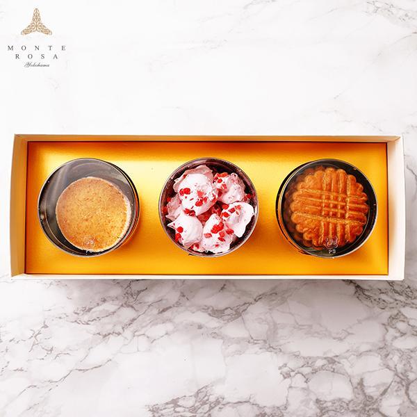 モンテローザ 円筒 ギフト 3個入  贈り物 最適 手作りクッキー オリジナルギフトBOX のし対応あり patisserie-monterosa