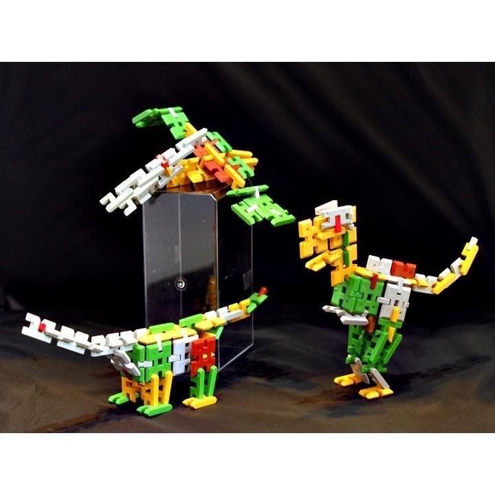 ピーブロック「恐竜セットDX」知育玩具 教材 組み立て 創造力 複数恐竜|pblock|03