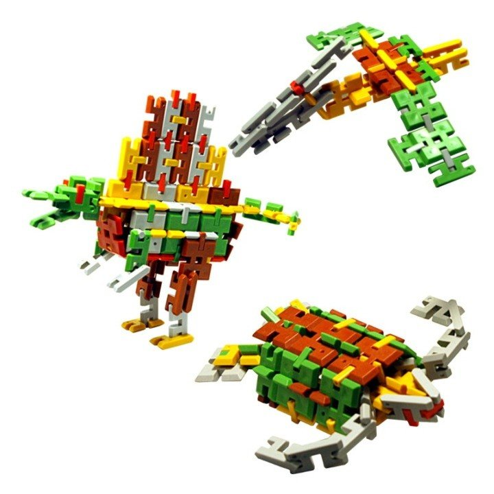 ピーブロック「恐竜セットDX」知育玩具 教材 組み立て 創造力 複数恐竜|pblock|04