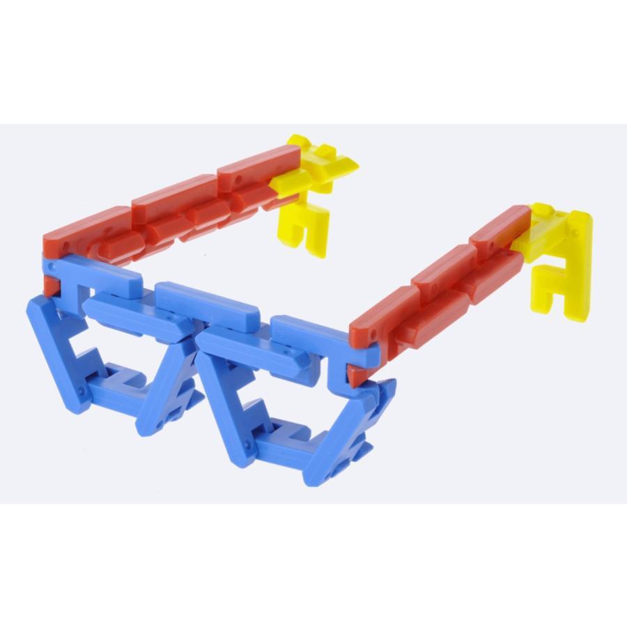 ピーブロック「コンテナセット300」知育玩具 教材 組み立て 創造力  300ピース 10色 多種 共同遊び pblock 04