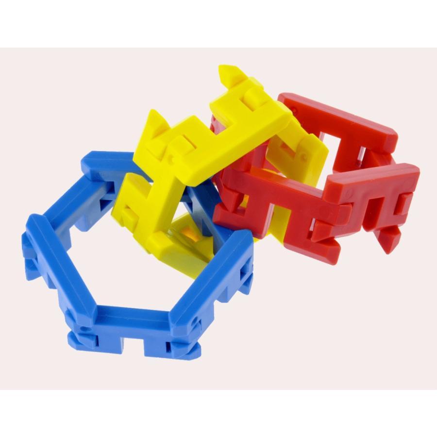 ピーブロック「コンテナセット300」知育玩具 教材 組み立て 創造力  300ピース 10色 多種 共同遊び pblock 09