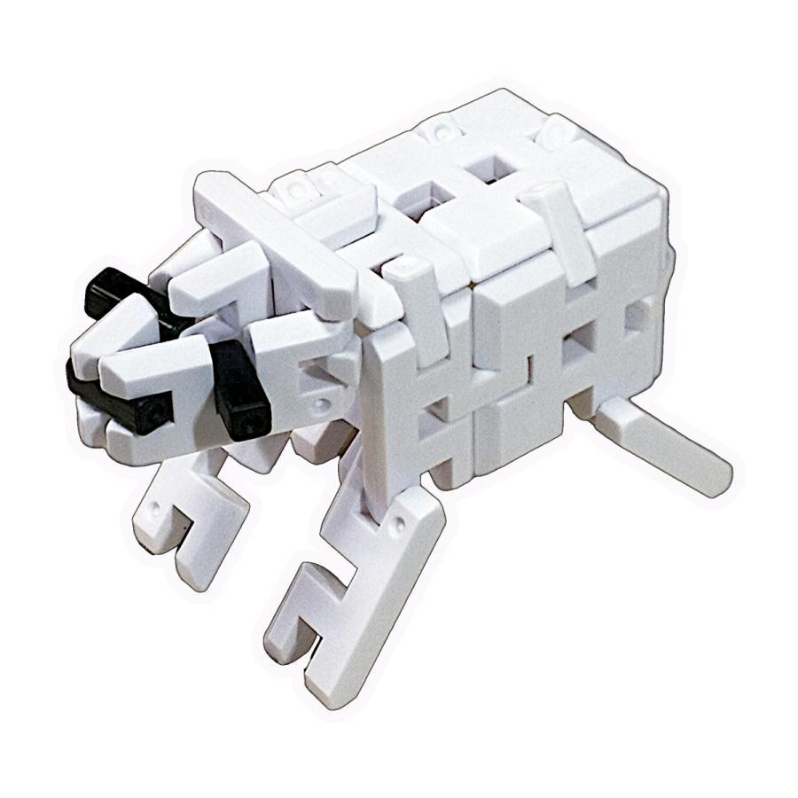 ピーブロック「モノクロセット」知育玩具 教材 組み立て 創造力 複数生き物  pblock 03