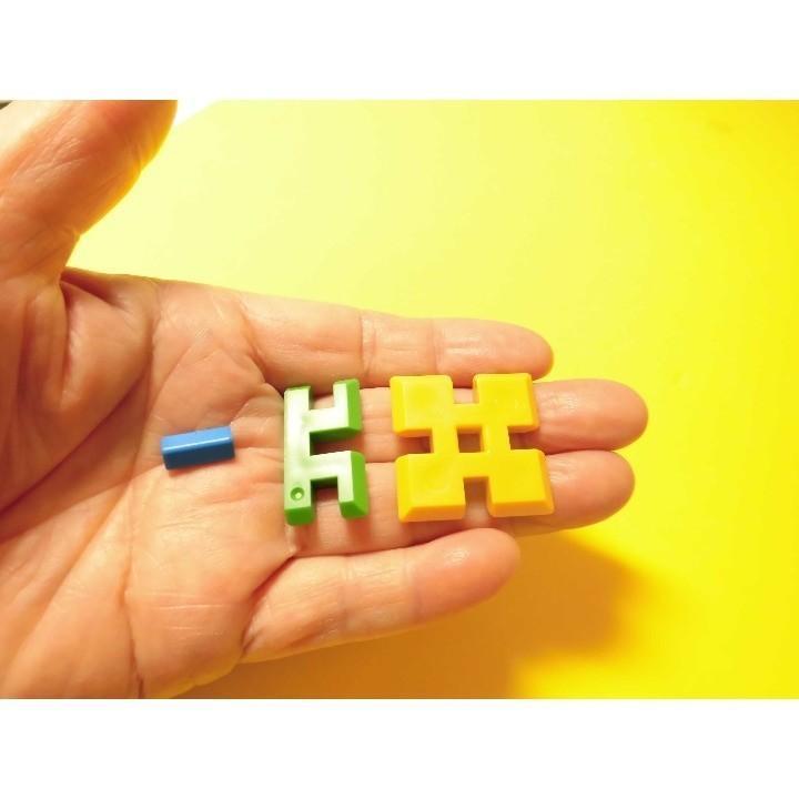 ピーブロック「モノクロセット」知育玩具 教材 組み立て 創造力 複数生き物  pblock 04