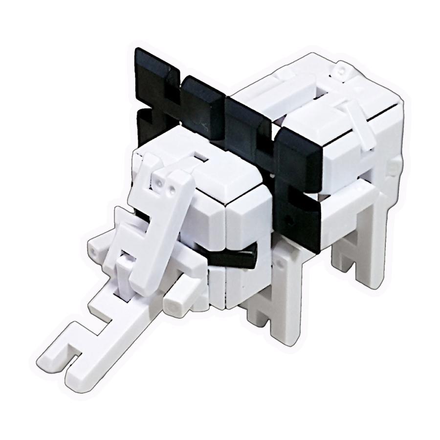 ピーブロック「モノクロセット」知育玩具 教材 組み立て 創造力 複数生き物  pblock 05