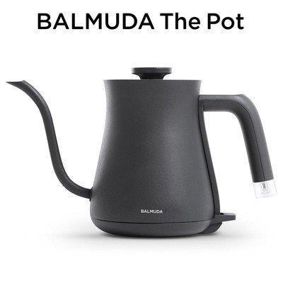 バルミューダ ステンレス製 電気ケトル 0.6L BALMUDA The Pot K02A-BK ブラック BALMUDA pc-akindo-y