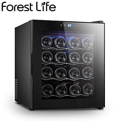 フィフティ ワインセラー 庫内容量48L 16本収納 家庭用 右開き Forest Life WCF-16