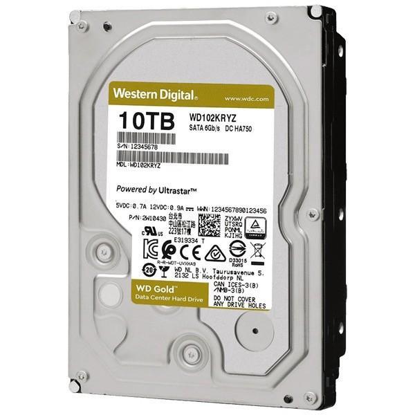 【在庫目安:お取り寄せ】 WESTERN DIGITAL 0718037-872681 WD Goldシリーズ 3.5インチ内蔵HDD 10TB SATA6.0Gb/ s 7200rpm/ class 25…