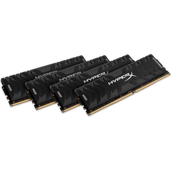 【在庫目安:お取り寄せ】 キングストン HX426C13PB3K4/64 16GBx4枚 DDR4 2666MHz CL13 1.35V HyperX Predator Memory Black OC Unbuffered D…
