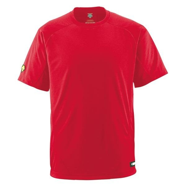 デサント(DESCENTE) ベースボールシャツ(Tネック) (野球) DB200 レッド O