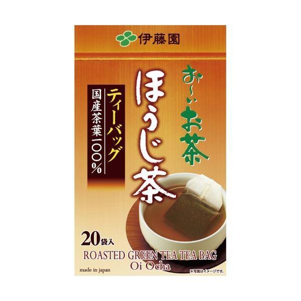 (まとめ)伊藤園 おーいお茶 ほうじ茶ティーバッグ2.0g 1箱(20バッグ)〔×20セット〕