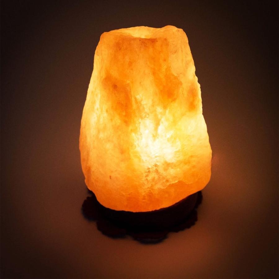 ヒマラヤ岩塩ランプ 2~3kg 100%天然 マイナスイオン効果 空気浄化と ...
