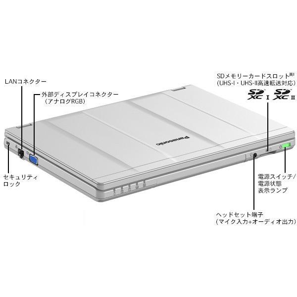 在宅勤務対応 Panasonic Let's note CF-SZ5 第六世代Core-i5 RAM:8GB SSD:256GB USB3.0 Webカメラ Win10 中古ノートパソコン pcmax 02
