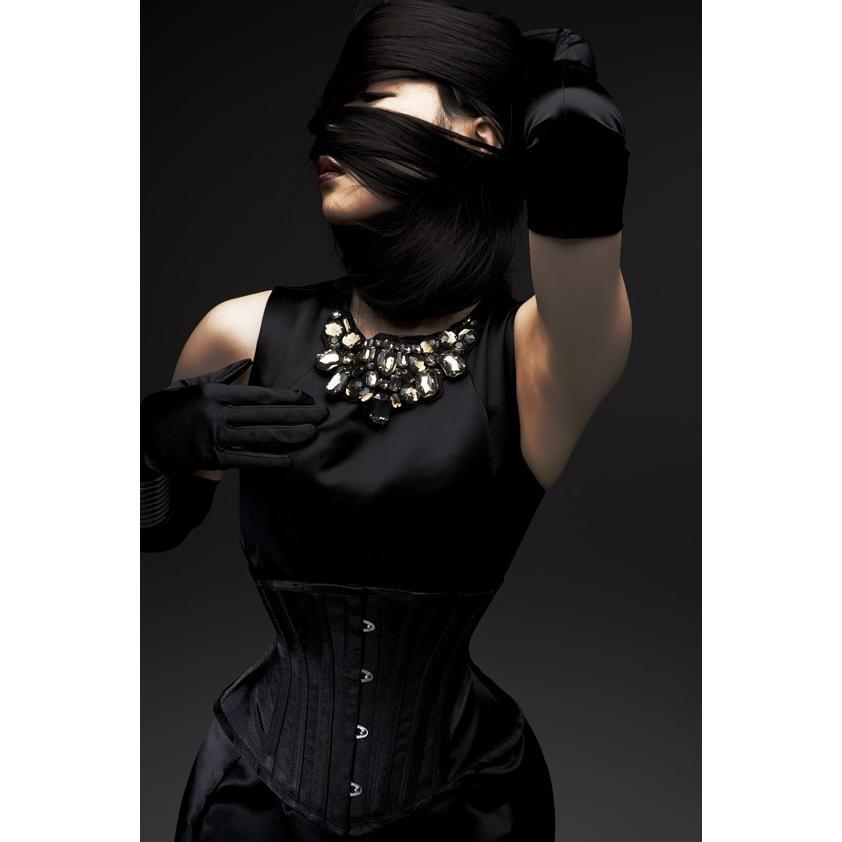 ベーシックショート(ピュアワン コルセット ワークス P.C.W)くびれ 肋骨 おすすめ 効果 編み上げ 大きいサイズ ゴシック ロリィタ 姿勢 紐 ウエスト|pcw-corset