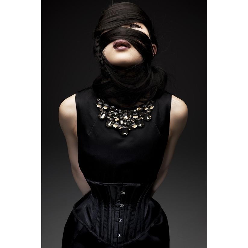ベーシックショート(ピュアワン コルセット ワークス P.C.W)くびれ 肋骨 おすすめ 効果 編み上げ 大きいサイズ ゴシック ロリィタ 姿勢 紐 ウエスト|pcw-corset|07