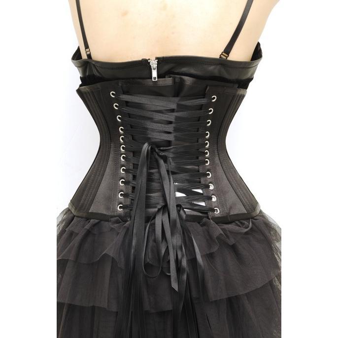 トリプルボーン アンダーバスト(ピュアワン コルセット ワークス P.C.W)くびれ 肋骨 編み上げ 効果 拘束 締め 紐 ゴシック ロリィタ ゴスロリ|pcw-corset|04