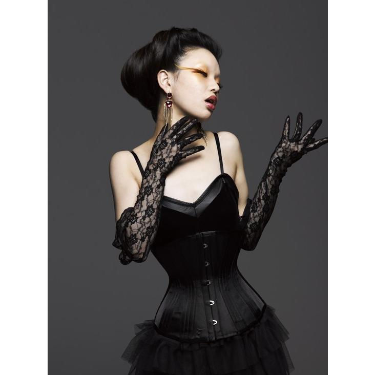 トリプルボーン アンダーバスト(ピュアワン コルセット ワークス P.C.W)くびれ 肋骨 編み上げ 効果 拘束 締め 紐 ゴシック ロリィタ ゴスロリ|pcw-corset|07