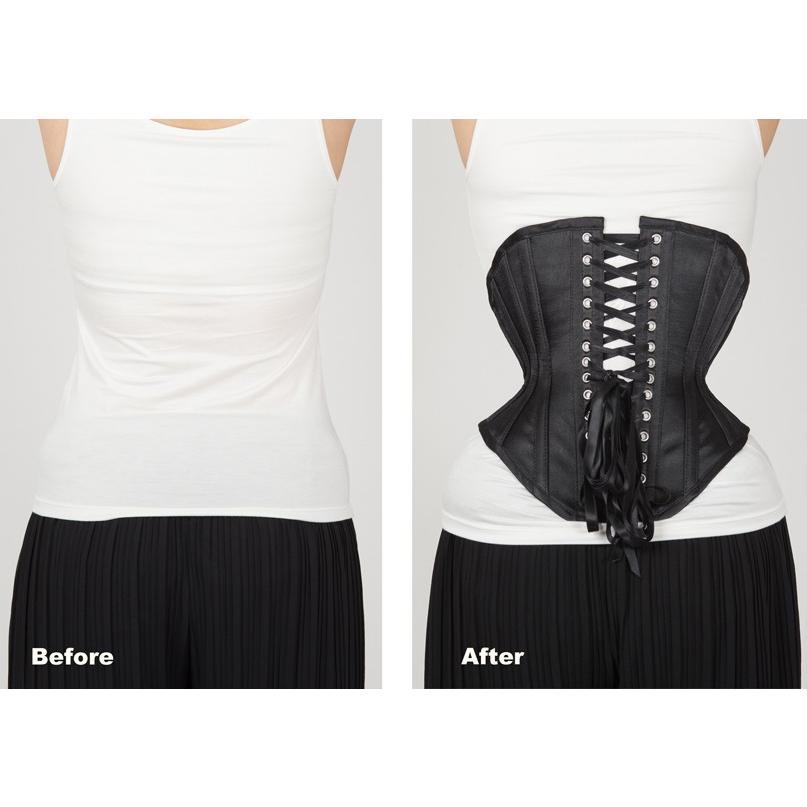 JFU-3(ピュアワン コルセット ワークス P.C.W)くびれ 肋骨 編み上げ おすすめ ゴシック ロリィタ ゴスロリ  ウエスト 拘束 アンダーバスト|pcw-corset|11