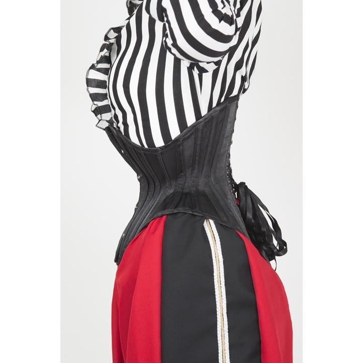 JFU-3(ピュアワン コルセット ワークス P.C.W)くびれ 肋骨 編み上げ おすすめ ゴシック ロリィタ ゴスロリ  ウエスト 拘束 アンダーバスト|pcw-corset|03